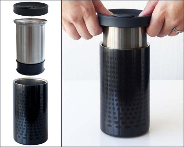 32. Brew coffee on the go with this ingenious travel mug.