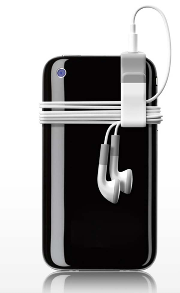 29. This simple clip will stop your earbud cords from getting hopelessly tangled.