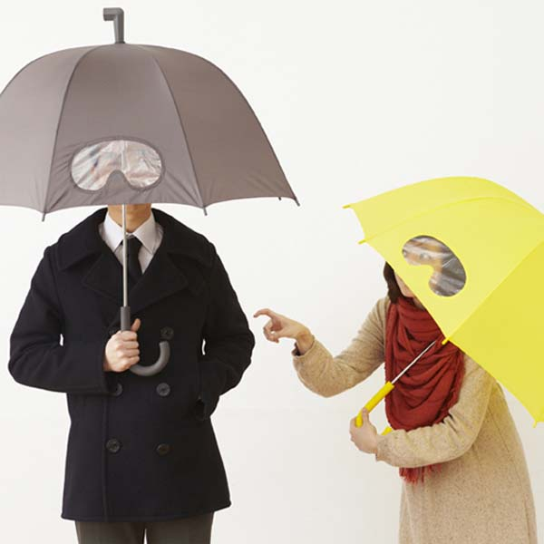 5. Goggle umbrellas will keep you super dry, even if you look super nerdy.