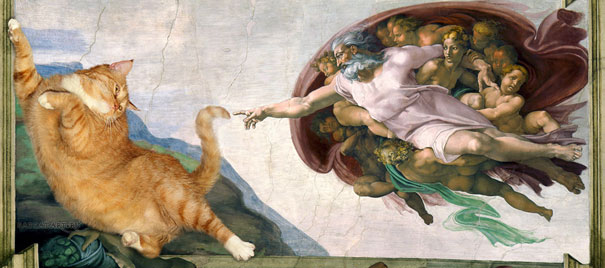 The Creation of Adam by Michelangelo (1511-1512)
