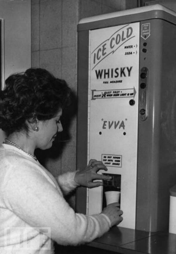 31. There used to be ice-cold whisky dispensers, sometimes found in offices (1950s).