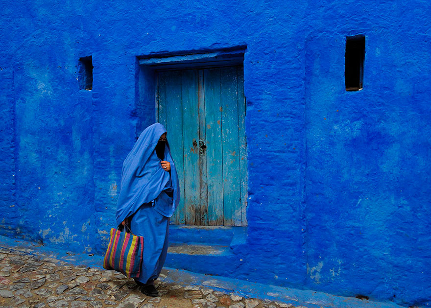 Amazing! An Old Small Town In Morocco Is TOTALLY Covered In Blue Paint!