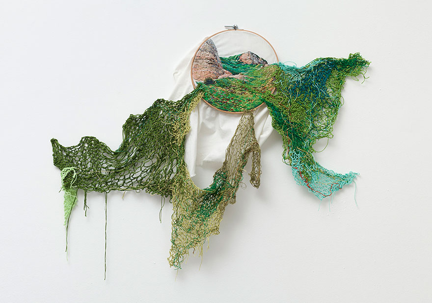 Vivid Landscape Embroidery Art Created By Ana Teresa: Art That Leaps Out Of Its Frames