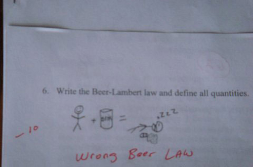 funny test answers