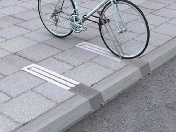 26. These beautiful bike racks don't take up space on the sidewalk when they're not in use.