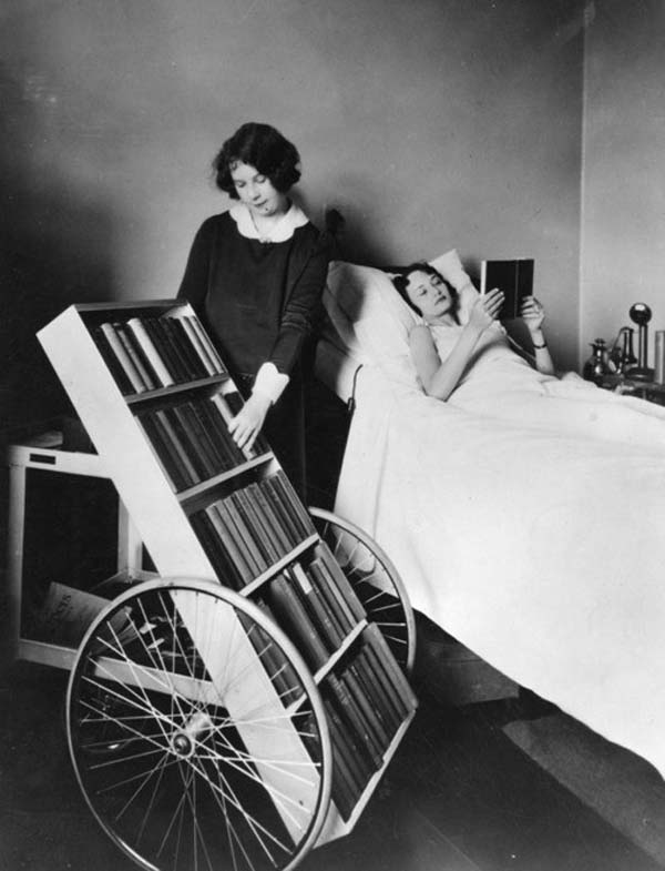 15. The LA Public Library's bookmobile program for the sick (1928).