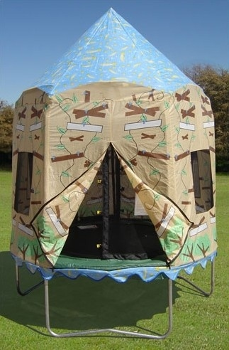 A Trampoline Treehouse Tent