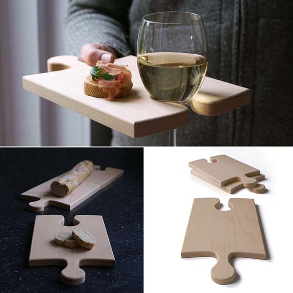12. The Puzzleboard serving plate is both attractive and functional.