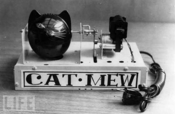 38. The Cat Mew machine, designed by the Japanese to keep away mice (1963).