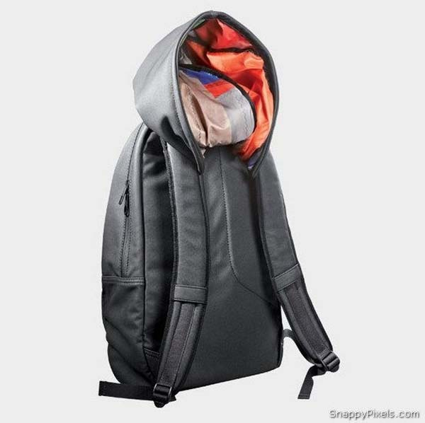 30. Live in a place with a lot of precipitation? Get this backpack with a built-in hood.