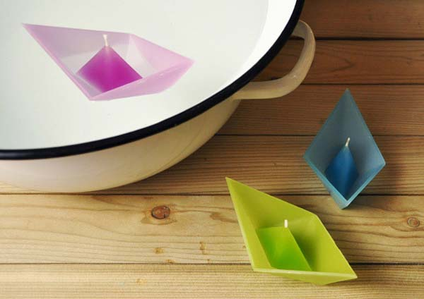 10. Floating origami candles are self-contained and absolutely adorable.
