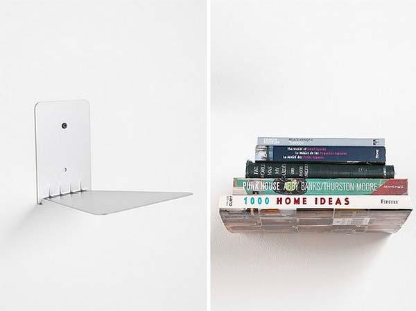 3. This clever bookshelf makes it look like your books are floating.