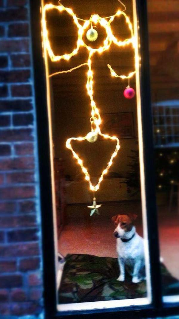 """12.""""I asked my husband to sort the Christmas lights in the window. This was not quite what I had in mind..."""""""