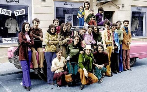 43. Young Osama Bin Laden with his family in Sweden, in the green shirt on the right (1970s).