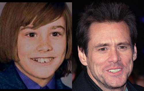 photos of comedy actors when they were kids Kim Carrey