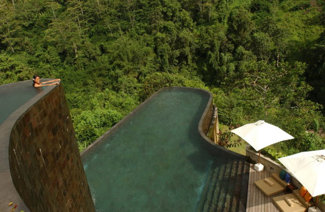 swim places spots pools 1. Ubud Hanging Gardens Hotel, Bali