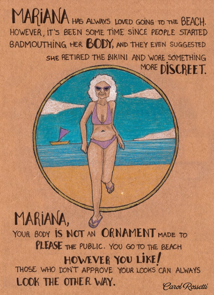 a series of empower illustrations to encourage women to say 'no' to the absurd social standards for women