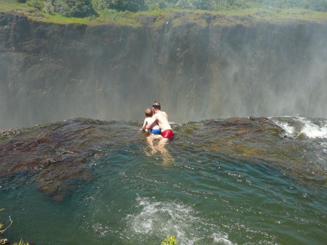 swim places spots pools 4. Devil's Pool, Victoria Falls, Zambia