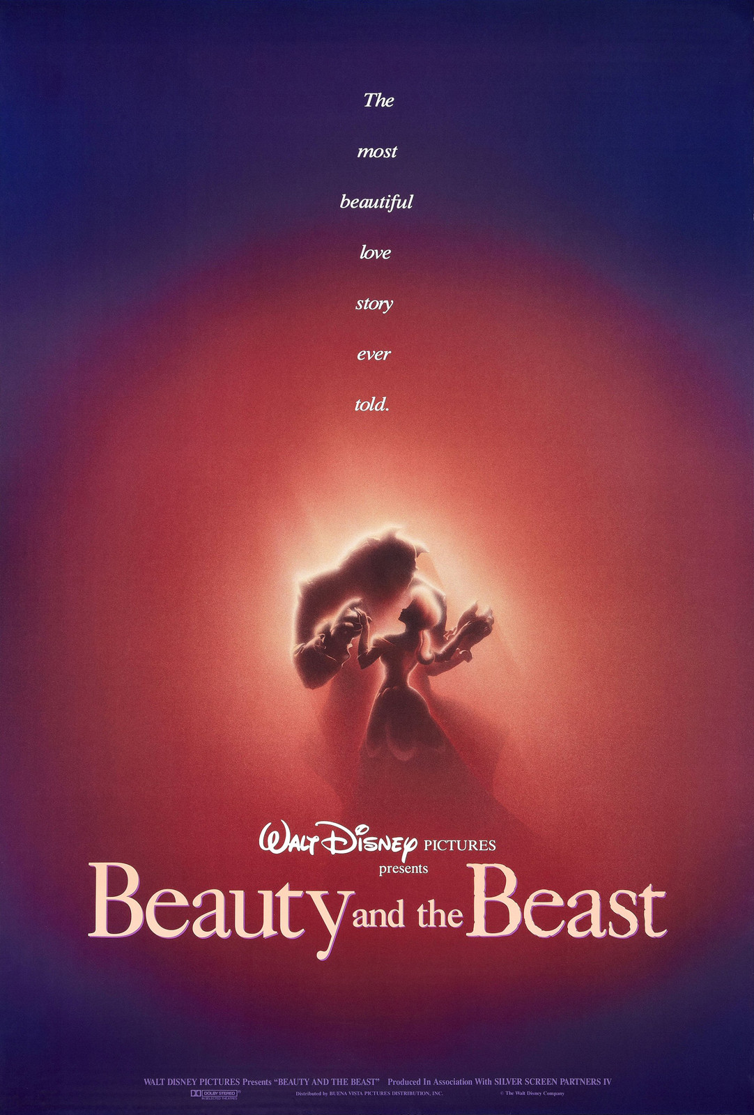 brilliantly designed posters of the Disney Renaissance Beauty and the Beast