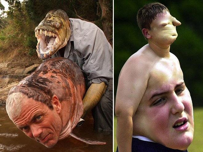 creepy alerts! These face swaps are disturbing but also hilarious! Be careful! Some of them are terrifying!