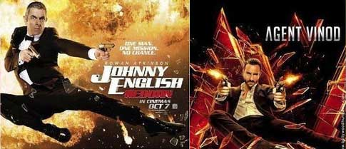 Bollywood movie posters inspired from Hollywood Agent Vinod