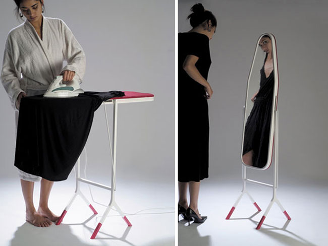 clever inventions that will make your life so much easier Ironing Board Mirror