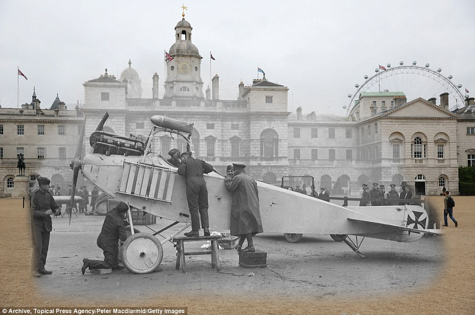 century-old photos of World War 1 soldiers. it's been 100 years now London Eye