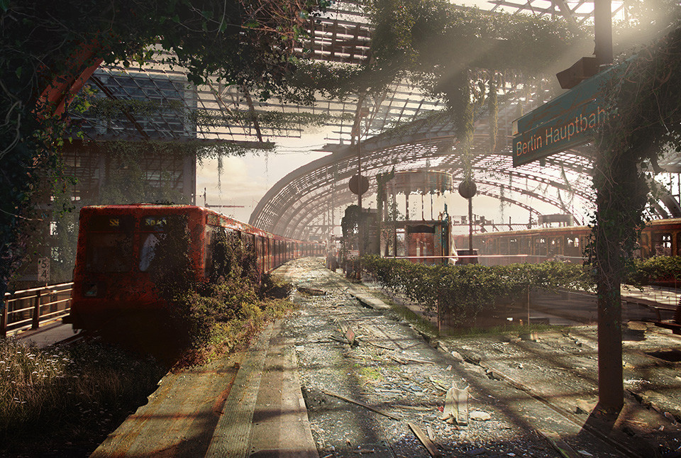 The last of us: apocalyptic pictures of the end of the world Berlin Central Station