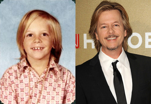 photos of comedy actors when they were kids David Spade