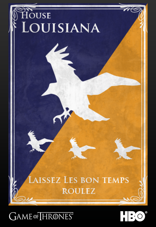 'Game of thrones' fans State Sigils HBO's website Louisiana