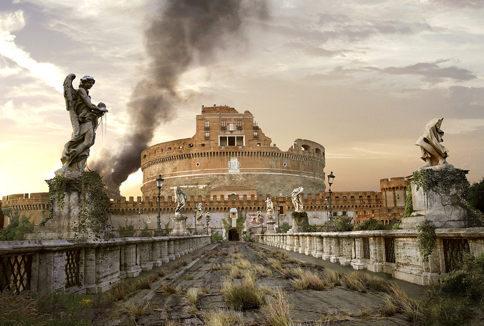 The last of us: apocalyptic pictures of the end of the world Castle San Angelo