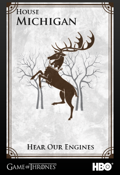 'Game of thrones' fans State Sigils HBO's website Michigan