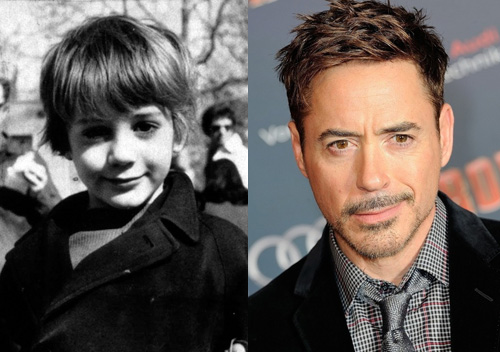 photos of comedy actors when they were kids robert downey Jr