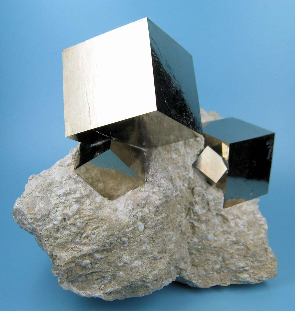 Perfect Cubes of Pyrite Formed by Mother Nature