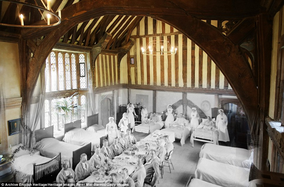century-old photos of World War 1 soldiers. it's been 100 years now The Great Hall at Great Dixter in East Sussex