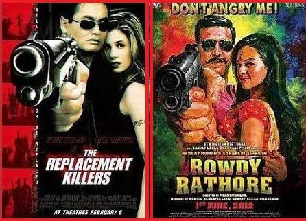 Bollywood movie posters inspired from Hollywood The Replacement Killers / Don't Angry Me