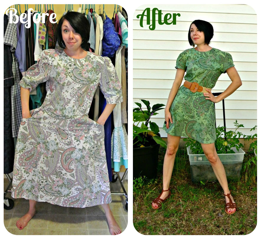 take out all your old clothes, now you can transforms them into elegant dresses