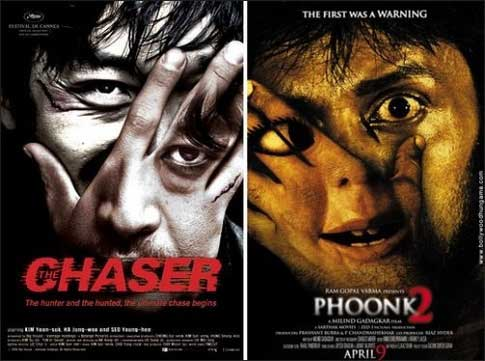 Bollywood movie posters inspired from Hollywood Chaser / Phoonk 2