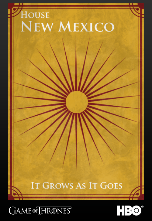 'Game of thrones' fans State Sigils HBO's website New Mexico