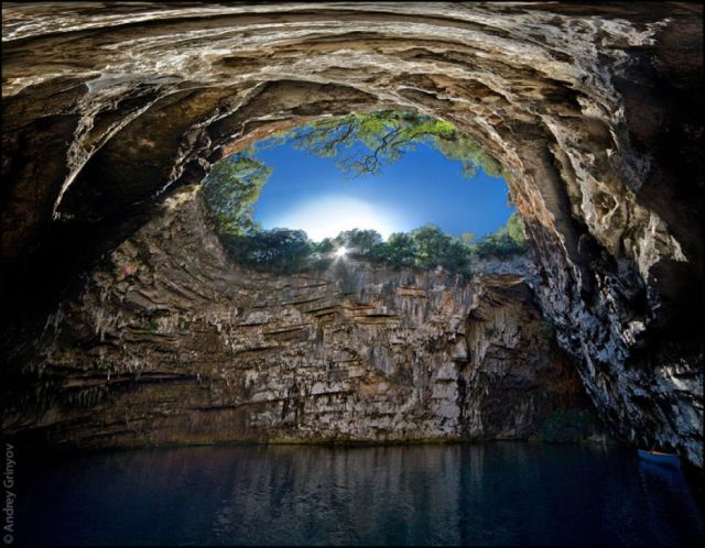 swim places spots pools 2. Melissani Cave, Greece