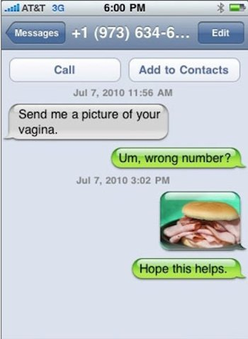 This is how you respond to a wrong number text! So hilariousl