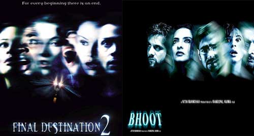 Bollywood movie posters inspired from Hollywood Final Destination 2 / Bhoot