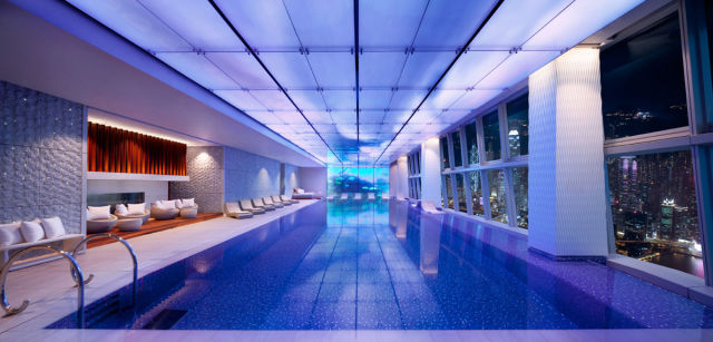 swim places spots pools 30. Ritz Carlton, Hong Kong