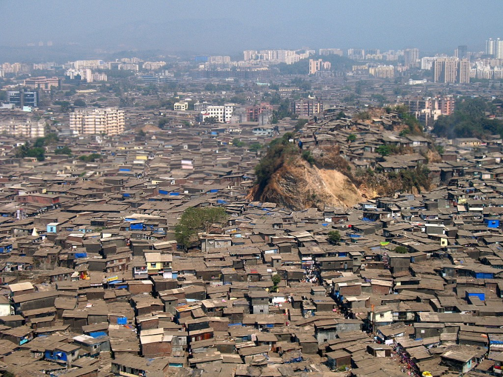 most densely populated places on Earth  Dharavi slums, Mumbai, India