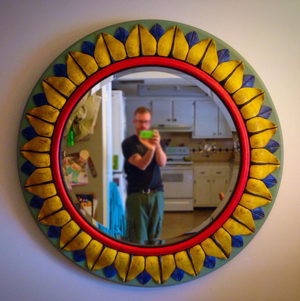 cool vintage mirror  found in the dumpster