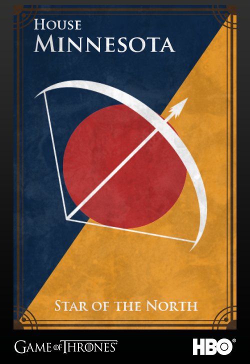 'Game of thrones' fans State Sigils HBO's website Minnesota
