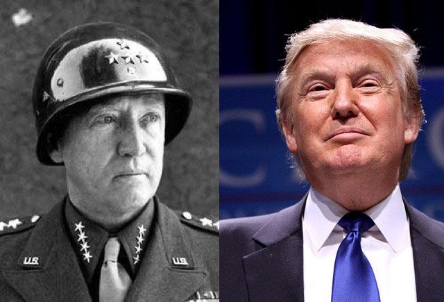 10. Donald Trump and General George Patton.