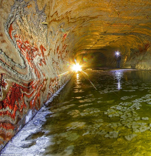 psychedelic salt mine with patterns