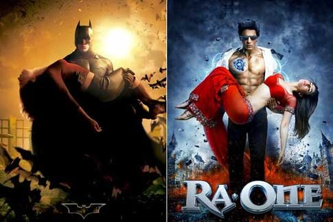 Bollywood movie posters inspired from Hollywood Batman / Ra One