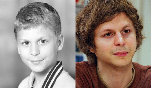 photos of comedy actors when they were kids Michael Cera